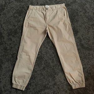 Men's Jack & Jones Khaki Chino Joggers - Size 34